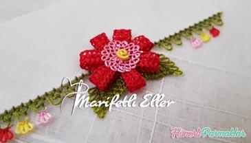 3 Boyutlu Çiçek İğne Oyası Yapımı