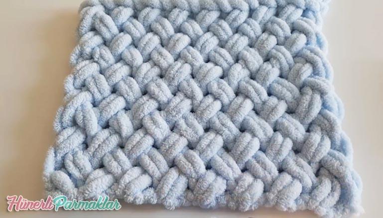 alize puffy ile kolay bebek battaniyesi yapimi hunerliparmaklar