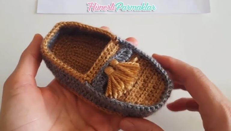 Bebek Ayakkabı Modeli Patik Yapılışı Türkçe Videolu