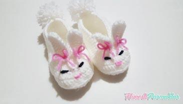 Bebekler İçin Tavşan Patik Yapılışı