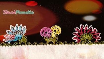 Çift Çiçek İğne Oyası