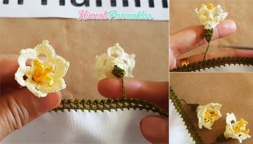 Hanımeli Çiçeği Oyası