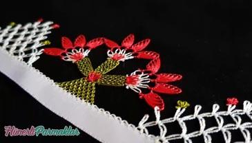 İğne Oyası Palmiye Ağacı Modeli