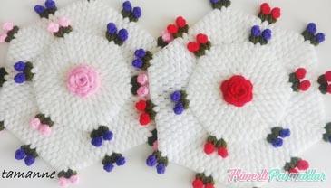 İki Katlı Çiçek Lif Yapımı