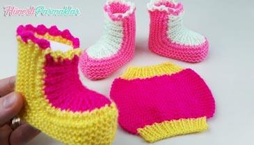 İki Şişle Bebek Çorap Yapılışı