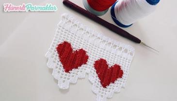 İp Yürütme Tekniği İle Kalpli Havlu Kenarı Yapılışı