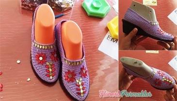 İşlemeli Patik Ayakkabı