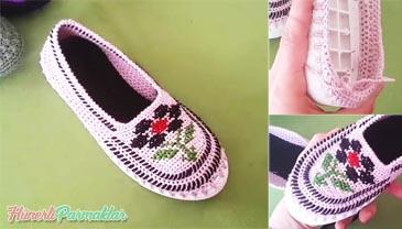 İşlemeli Patik Ayakkabı Yapılışı