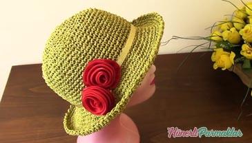 Kağıt İple Yazlık Şapka