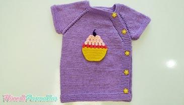 Kek Figürlü Bebek Yeleği Yapımı