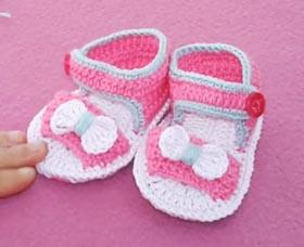 Çapraz bebek sandalet yapımı - Canım Anne | 228x280