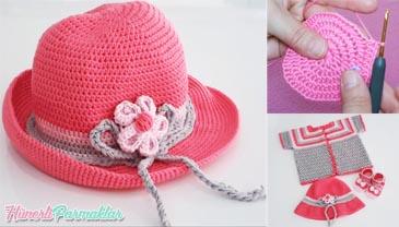 Kız Çocukları İçin Yazlık Şapka