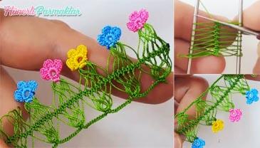 Minik Çiçekli Firkete Oyası Modeli