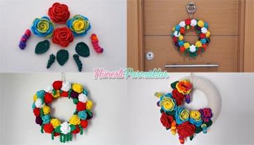 Renkli Güllerle Kapı Süsü Yapılışı