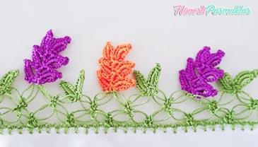 Renkli Yapraklar Tığ Oyası