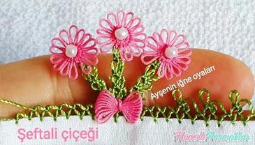 Şeftali Çiçeği İğne Oyası Yapılışı