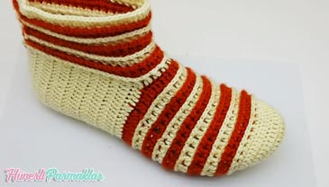 Tığ İşi Tek Parça Patik Çorap Yapılışı