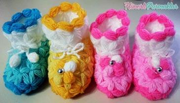 Yeni Doğan Bebek Lif Patik Modeli