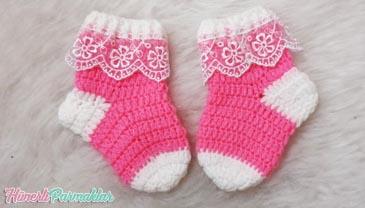 Yeni Doğan Çorap 0 3 Aylık Yapılışı