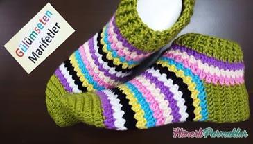 Yeni Sezon Rengarenk Çorap Patik Yapılışı