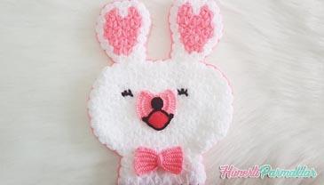 Çizgi Karakter Mofy Tavşan Kese Lif Yapılışı