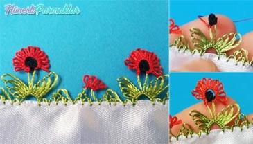 Gelincik Çiçeği İğne Oyası