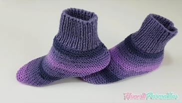 İki Şiş Kolay Topuklu Çorap Patik Yapılışı
