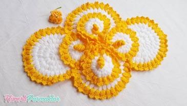 Süslü Bahar Çiçeği Lif Modeli Yapılışı