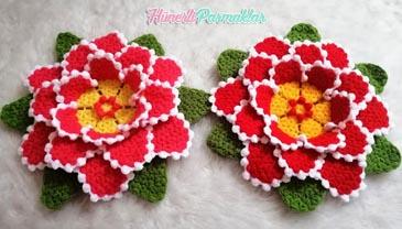 Yapraklı Katlı Çiçek Lif Yapılışı